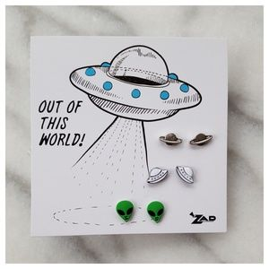 Modcloth Time and Space Earring Set